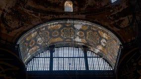 Interior de Hagia Sophia en Sultanahmet Estambul Turquía - fondo de la arquitectura Fotos de archivo