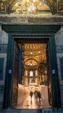 Interior de Hagia Sophia en Sultanahmet Estambul Turquía - fondo de la arquitectura Fotos de archivo libres de regalías