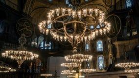 Interior de Hagia Sophia en Sultanahmet Estambul Turquía - fondo de la arquitectura Fotografía de archivo libre de regalías