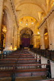 Interior de Havana Cathedral da Virgem Maria (1748-1777), Cub Imagens de Stock