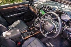 Interior de Honda CR-V 2017 Imagenes de archivo