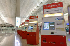 Interior de Hong Kong International Airport Fotografia de Stock Royalty Free
