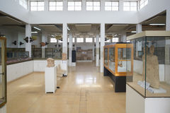 Interior de Jordan Archaeological Museum en Amman Foto de archivo