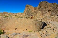 Interior de Kive - asteca arruina o monumento nacional - asteca, nanômetro foto de stock royalty free