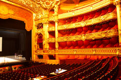 Interior de la ópera Foto de archivo