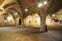 Interior de la abadía de Bellapais en Chipre ocupado septentrional Fotos de archivo