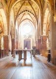 Interior de la abadía de Viboldone, Milán Imagenes de archivo