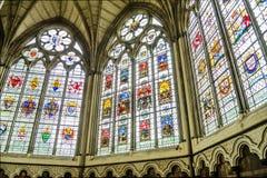 Interior de la abadía de Westminster, Londres Imagen de archivo