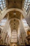 Interior de la abadía del baño Foto de archivo libre de regalías