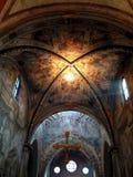 Interior de la abadía del chiaravalle Foto de archivo libre de regalías