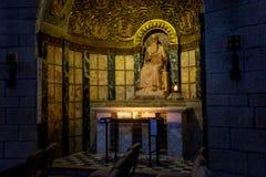 Interior de la abadía de Dormition en Jerusalén, Israel Fotografía de archivo libre de regalías