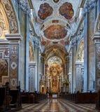 Interior de la abadía de Klosterneuburg, Viena fotografía de archivo