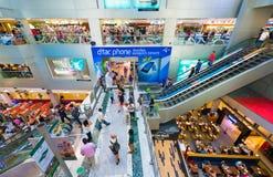 Interior de la alameda de compras de MBK, ciudad de Bangkok Fotografía de archivo