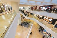 Interior de la alameda de compras pacífica del lugar, Hong Kong Imagen de archivo