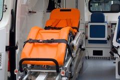 Interior de la ambulancia Fotos de archivo