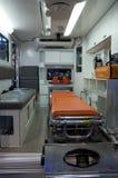 Interior de la ambulancia Foto de archivo libre de regalías