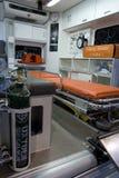 Interior de la ambulancia Fotografía de archivo libre de regalías