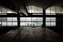Interior de la arquitectura del abandono Fotografía de archivo