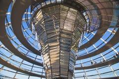 Interior de la bóveda de Reichstag Fotografía de archivo