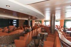 Interior de la barra del barco de cruceros Imágenes de archivo libres de regalías