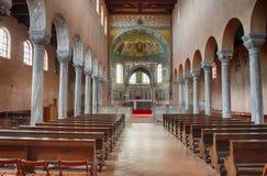 Interior de la basílica antigua de Euphrasian en Porec Foto de archivo libre de regalías