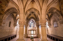 Interior de la basílica de Pannonhalma, Pannonhalma, Hungría fotos de archivo