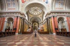 Interior de la basílica de St John, Eger, Hungría imagen de archivo libre de regalías