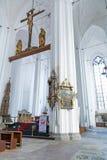 Interior de la basílica de St Mary en Gdansk Fotos de archivo libres de regalías