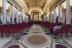 Interior de la basílica Santa Maria Maggiore en Roma, Italia Fotos de archivo