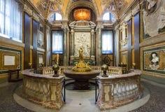 Interior de la basílica Santa Maria Maggiore en Roma, Italia Foto de archivo libre de regalías