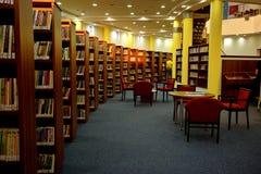 Interior de la biblioteca foto de archivo libre de regalías