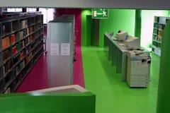 Interior de la biblioteca Imagen de archivo