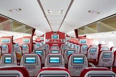 Interior de la cabina Boeing787 fotos de archivo libres de regalías