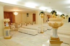 Interior de la capilla de la boda Fotografía de archivo
