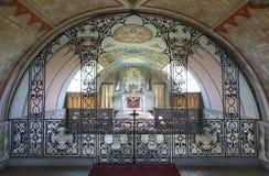Interior de la capilla de la encina del cordero en las Orcadas escocia Reino Unido Imagenes de archivo