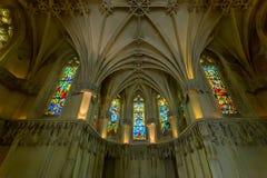 Interior de la capilla medieval Foto de archivo