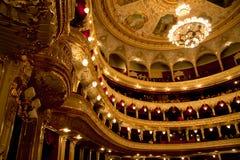 Interior de la casa de la ópera y del ballet de Odessa imagenes de archivo