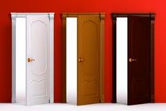 Interior de la casa de madera de la puerta ilustración del vector