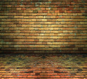 Interior de la casa del ladrillo, textura del fondo del sótano imagen de archivo libre de regalías