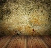 Interior de la casa del muro de cemento de Grunge Fotos de archivo libres de regalías