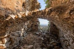 Interior de la casa del ` s del bandido sobre Feliceto en Córcega Foto de archivo