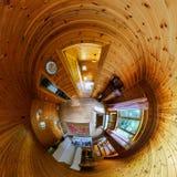 Interior de la casa en poco estilo de la opinión del planeta Foto de archivo libre de regalías