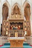 Interior de la catedral Imagen de archivo libre de regalías