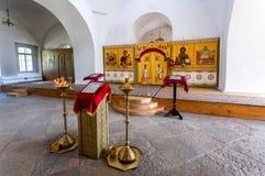 Interior de la catedral cruzada santa 1763 en el ` s de San Jorge Foto de archivo