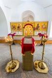 Interior de la catedral cruzada santa en el ` s Yuriev de San Jorge Imágenes de archivo libres de regalías