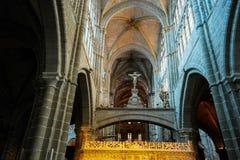 Interior de la catedral de Ávila, España Fotografía de archivo libre de regalías