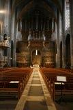 Interior de la catedral de Albi imagen de archivo