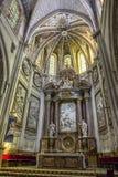 Interior de la catedral de Cuenca, de Major Chapel o del alto altar Foto de archivo libre de regalías