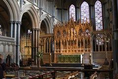 Interior de la catedral de Ely Fotografía de archivo libre de regalías