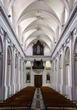 Interior de la catedral de la abadía Imágenes de archivo libres de regalías